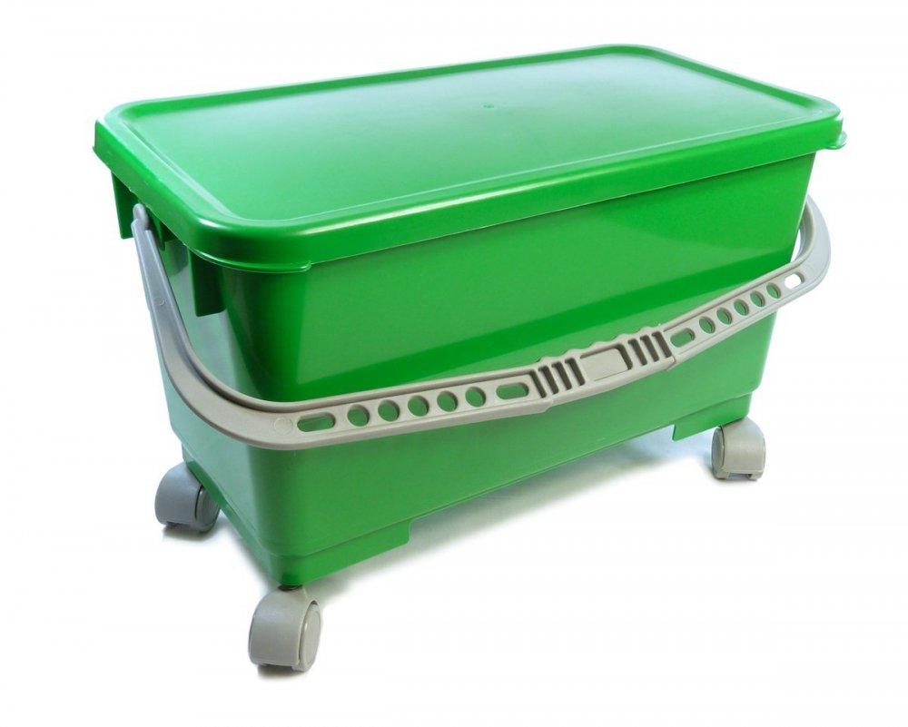 Emmer (20 liter) met ophangsysteem en wielen