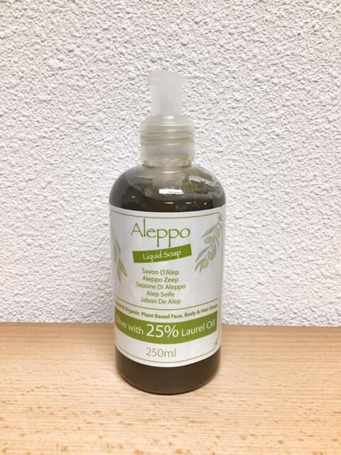 Natuurlijke Aleppo Vloeibare Zeep - Olijf met 25% Laurier Olie