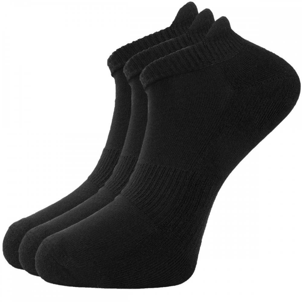 Bamboe   sneaker   sokken   1 paar   zwart   maat 37-41