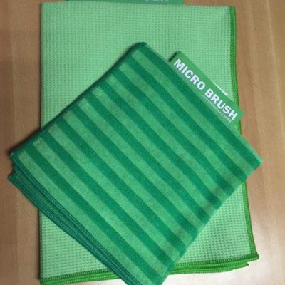 Raamset: Micro brush schoonmaakdoek en droogdoek