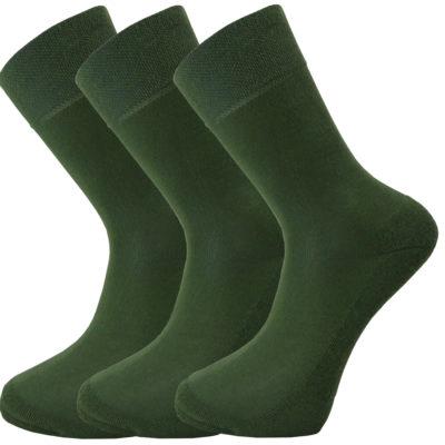 Bamboe sokken 3 paar in Donker Groen