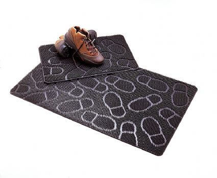 Rubberen Buitenmat met voetstapjes - 40 x 60 cm