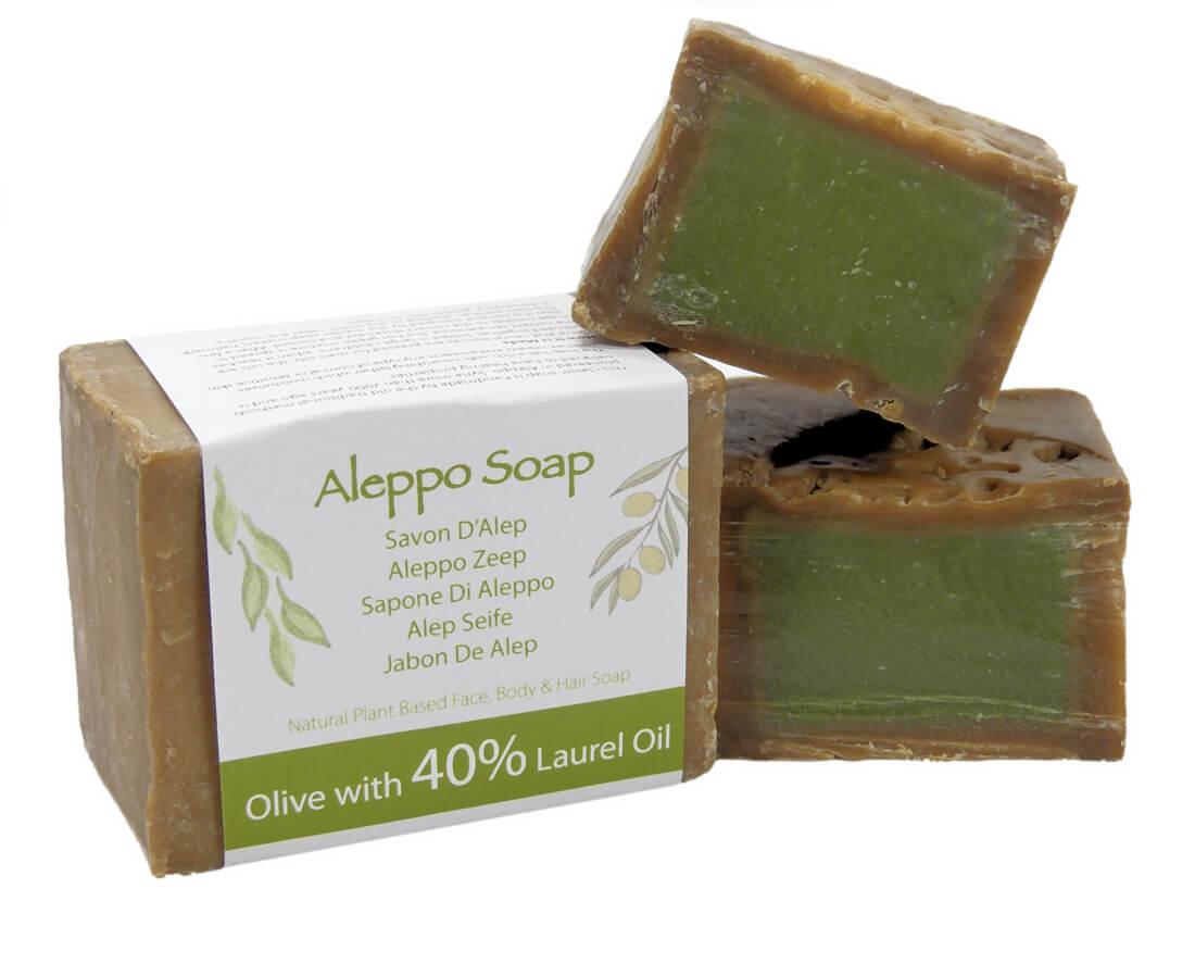 Natuurlijk Traditionele Aleppo zeep met 40% Laurier olie