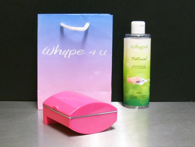 """Whype Dispenser Roze, """"Het alternatief voor vochtig toiletpapier."""" introductieset (Limited Edition)"""