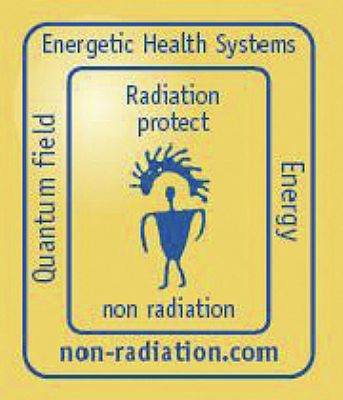 Telefoonsticker tegen Electro Magnetische Straling (EMS)