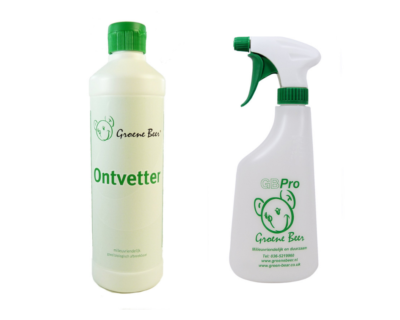 Ontvetter 500 ml en Sproeiflacon Groen